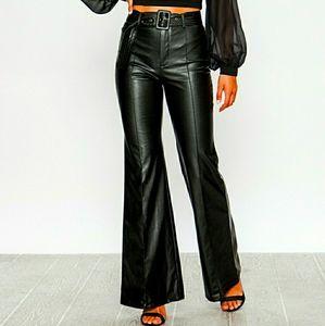Jealous Tomato Black Leather Pants